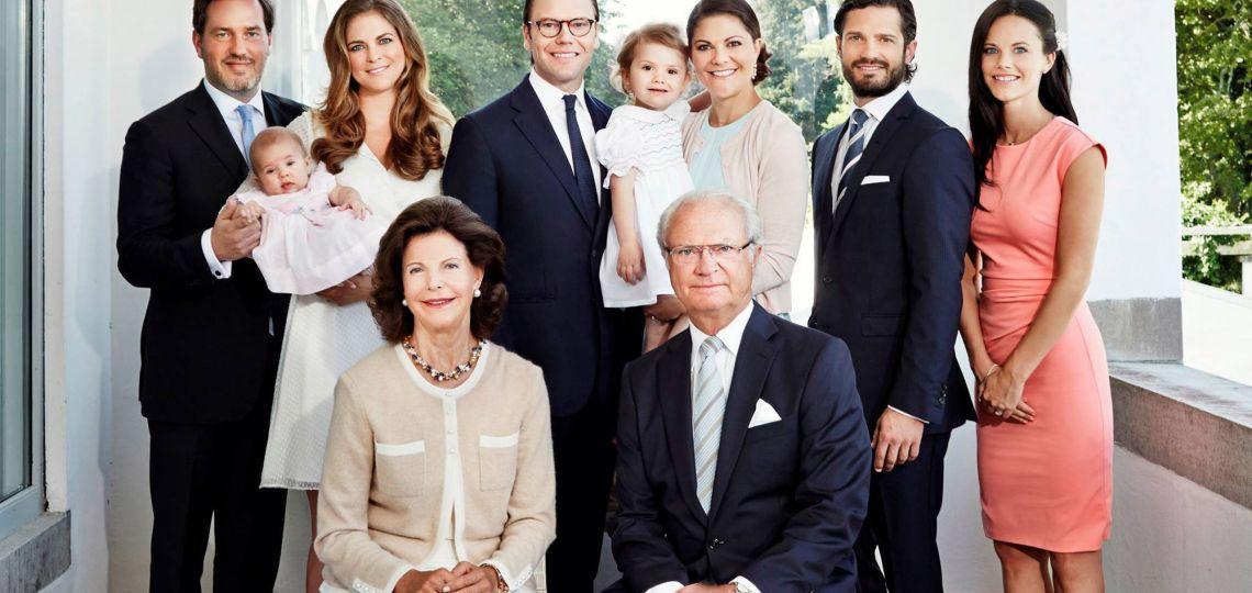 Suecia: el Rey excluyó a algunos de sus nietos de la casa real
