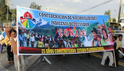La poderosa Conaie dominan las protestas en Ecuador.