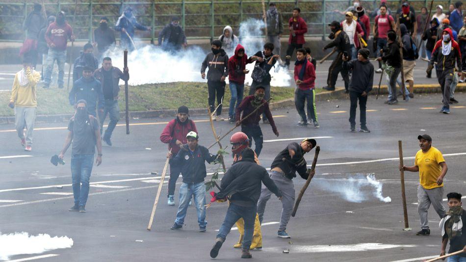 Disturbios y protestas en Ecuador.
