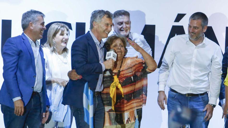 Mauricio Macri, de campaña en Tucumán