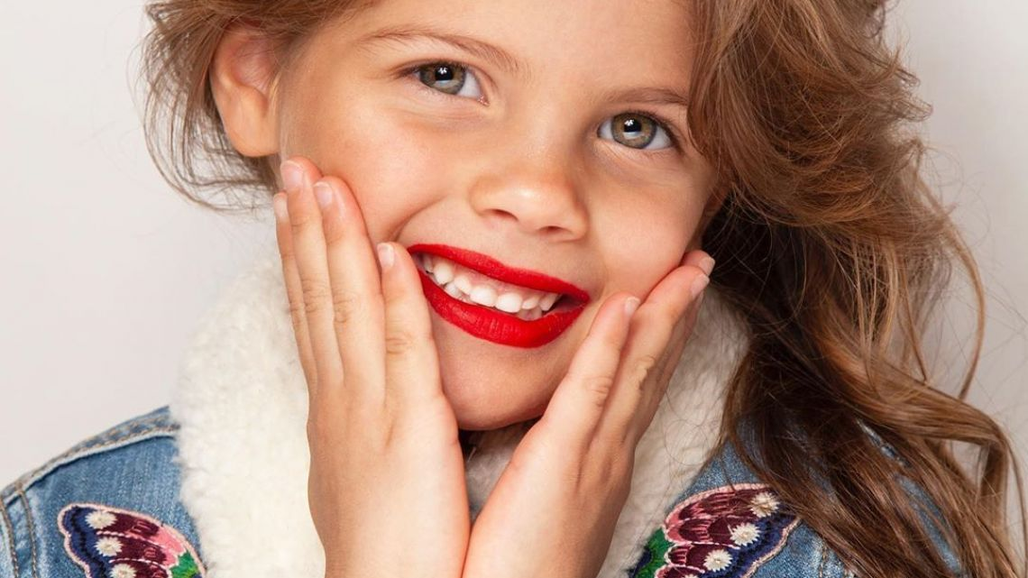 Francesca Icardi debutó como modelo en el fashion week de Milán