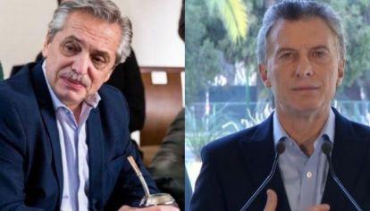 Los candidatos con mayor intención de voto: Alberto Fernández y Mauricio Macri, en ese orden.