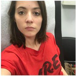 Carla Quevedo mientras sufría uno de sus peores periodos de depresión