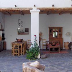 The courtyard at Hotel El Cortijo.