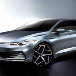 Reproducción digital del nuevo Volkswagen Golf.