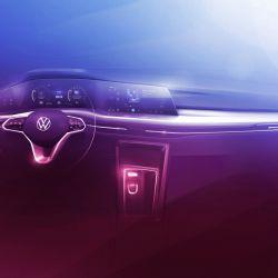 Reproducción digital del interior del nuevo Volkswagen Golf.