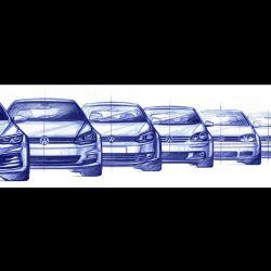 Evolución del Volkswagen Golf a lo largo de sus ocho generaciones.