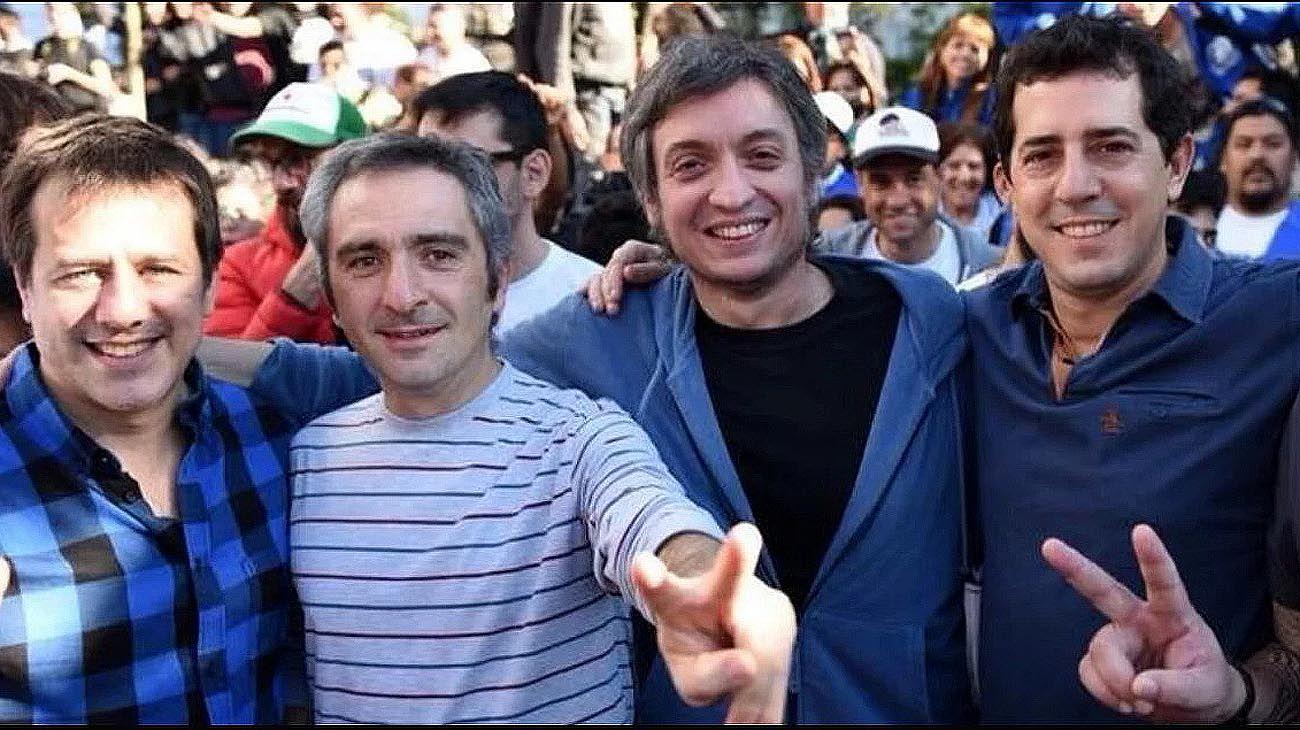 Principales dirigentes del Movimiento La Cámpora. Recalde. Larroque, Kirchner, De Pedro.