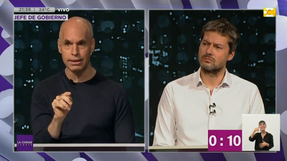 Rodríguez Larreta y Lammens debate