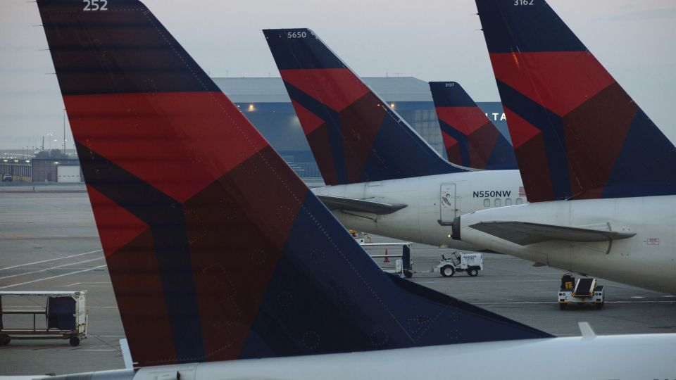 Operations At The Delta Air Lines Inc. Terminal Ahead Of Earnings Figures