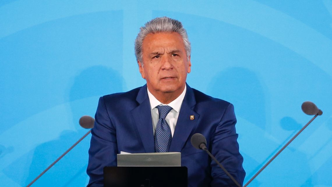 Ecuador's President Lenin Moreno addresses the Climate Action Summit in the United Nations General Assembly, at U.N. headquarters.