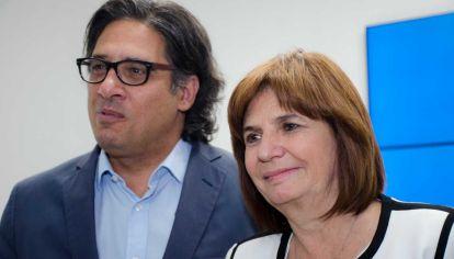 Los ministros de Justicia y Seguridad, Germán Garavano y Patricia Bullrich.