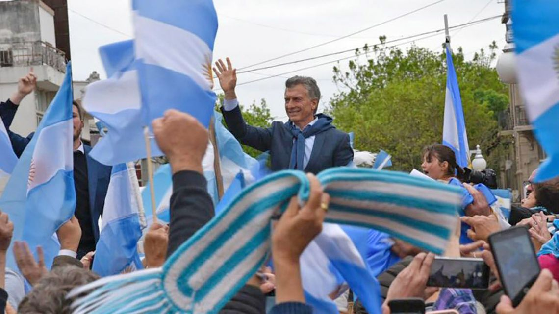 President Mauricio Macri stages a campaign event in Salta on Thursday.