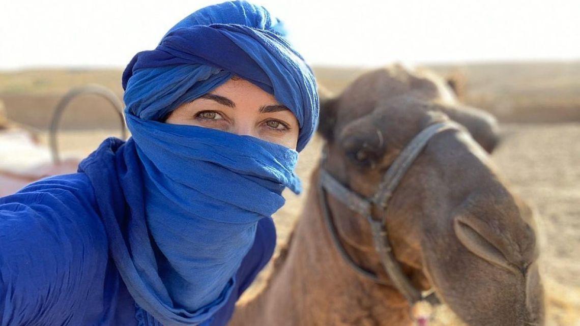 Toda la intimidad del excéntrico cumpleaños de Pamela David en Marruecos