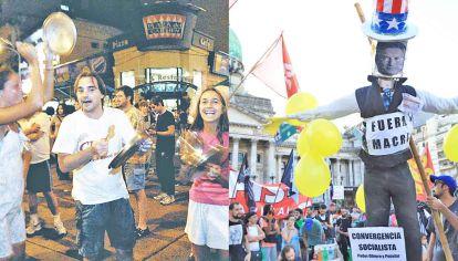 Crisis. Algunos comparan las manifestaciones en contra del gobierno de Macri con los cacerolazos de 2001, que motivaron la renuncia del presidente De la Rúa.