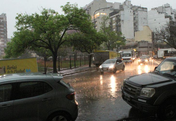 Día de lluvia en Buenos Aires.