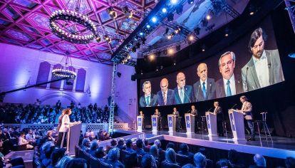 El primer bloque del debate con los candidatos.