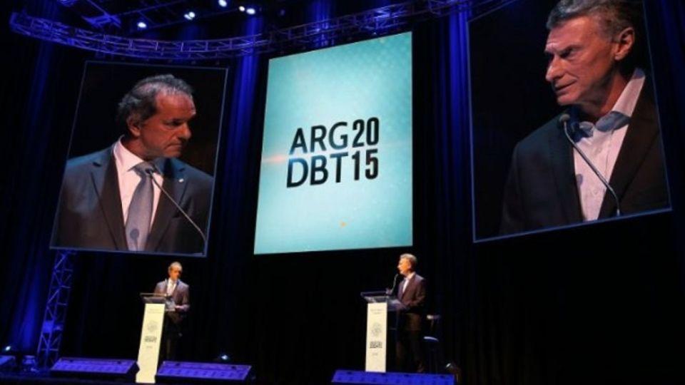 Mauricio Macri y Daniel Scioli.