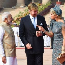 Máxima de Holanda en India: bailes, flores y looks exquisitos
