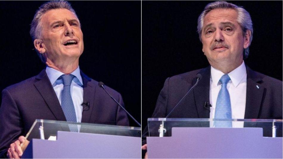 Mauricio Macri elevó las cejas en camio Alberto Fernández destacó la ondulación de las suyas.