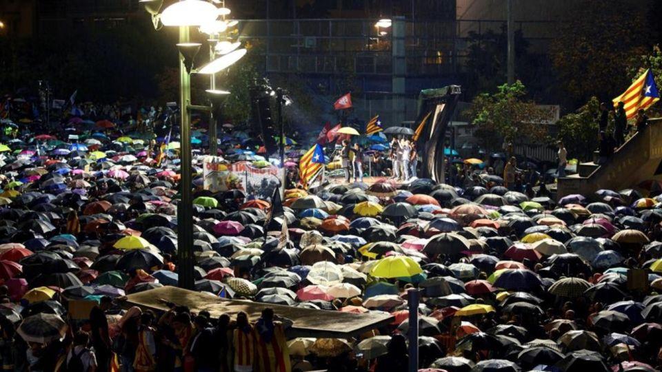 Protestas en Cataluña.