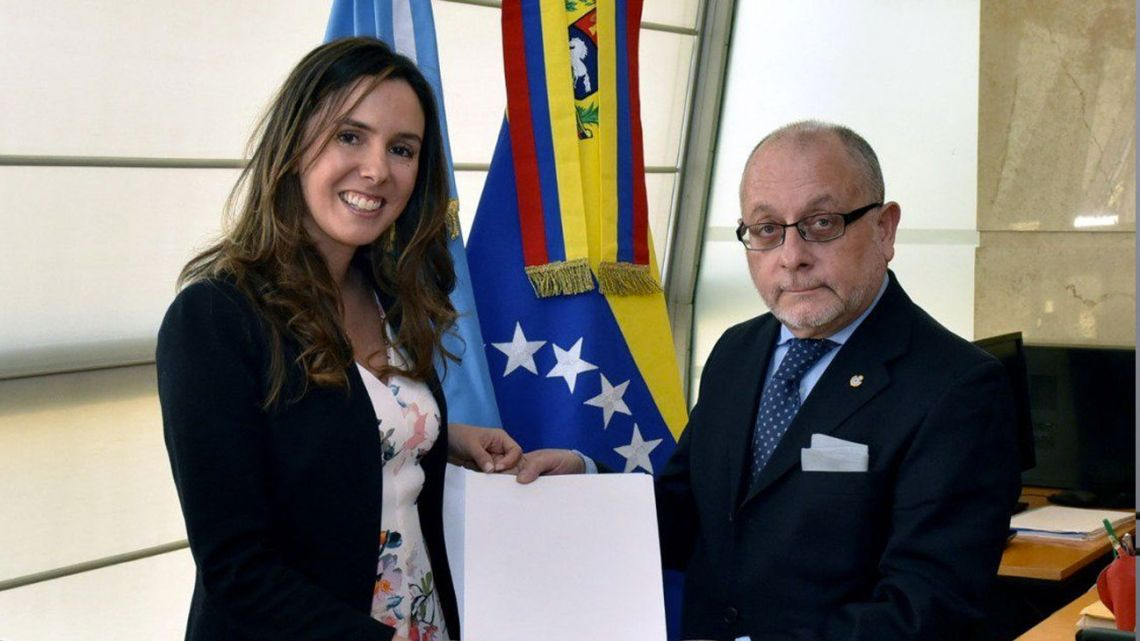 Elisa Trotta is officially recognised as Venezuela's representative in Argentina by Foreign Minister Jorge Faurie.