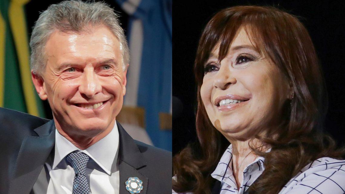 Mauricio Macri and Cristina Fernández de Kirchner.
