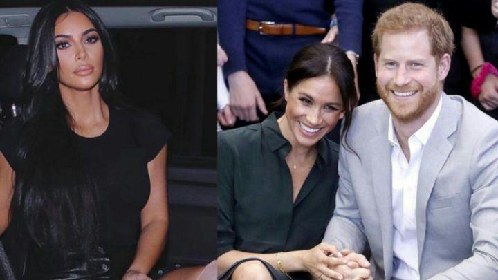 Kim Kardashian defendió a Meghan Markle y al príncipe Harry de las fuertes críticas