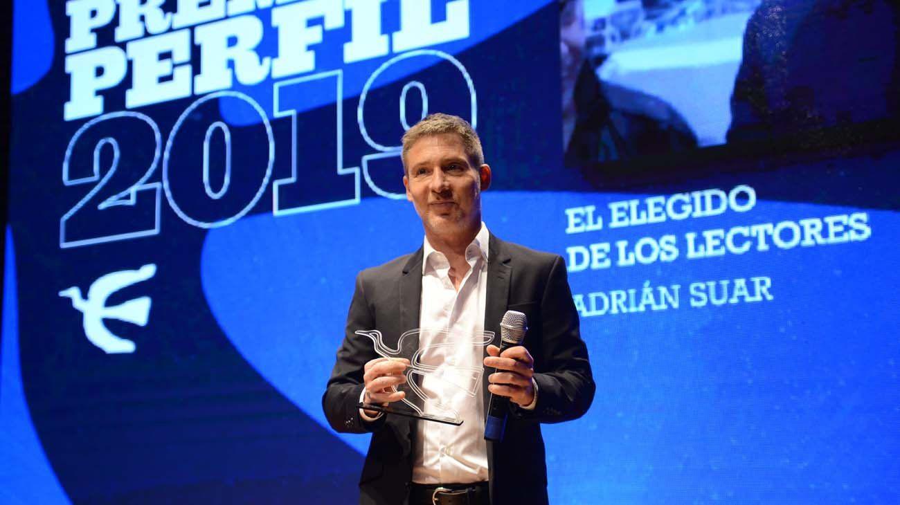 Adrián Suar se quedó con el Premio Perfil 2019 elegido por los lectores