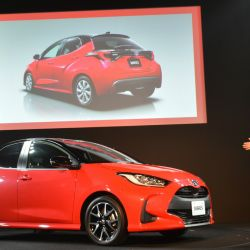Presentación mundial del Toyota Yaris en Tokio.