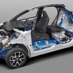La cuarta generación del Toyota Yaris está basada en la nueva plataforma GA-B, derivada de la TNGA.