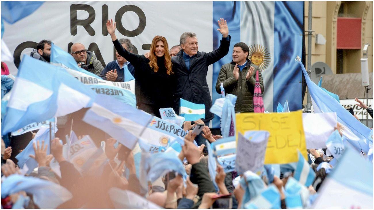 Mauricio Macri en Córdoba, en su gira del
