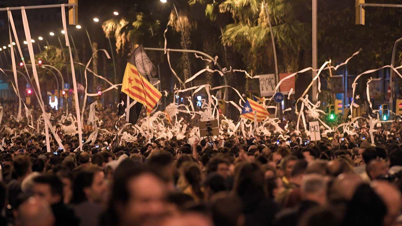 Cataluña paralizada por las protestas independentistas