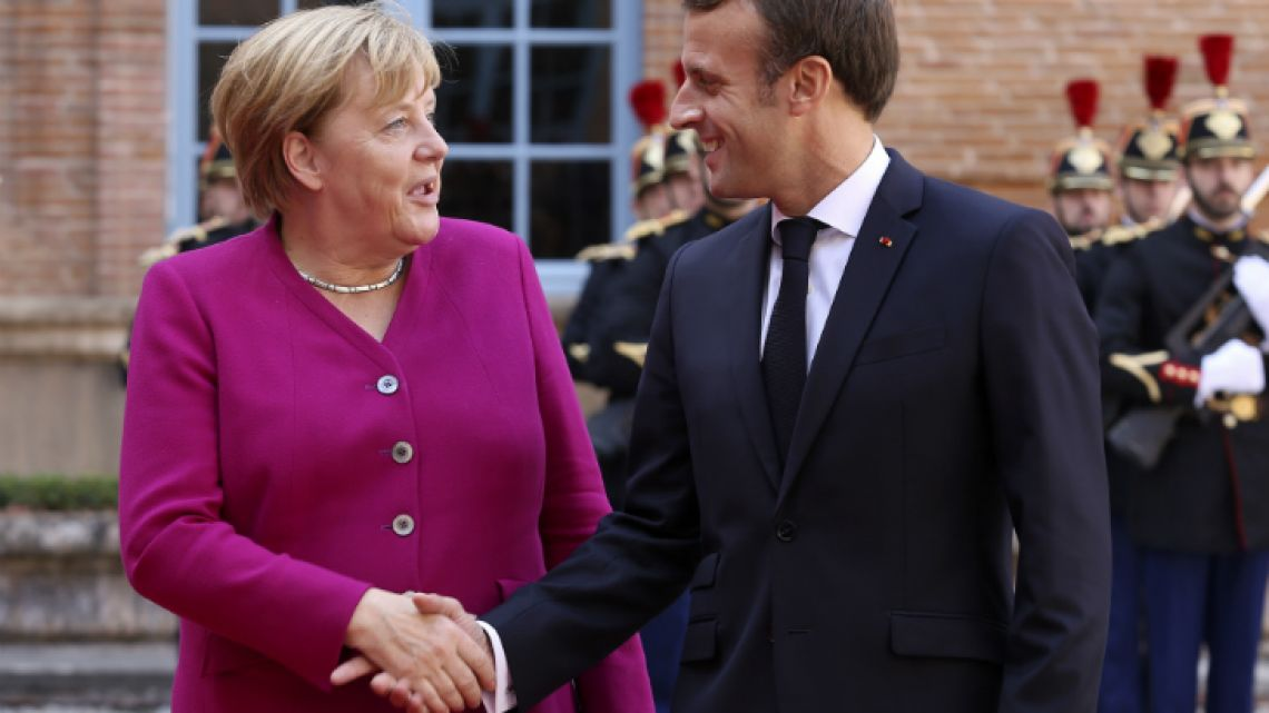 French President Emmanuel Macron and German Chancellor Angela Merkel. The two have worked closely together as the EU deliberates Brexit.