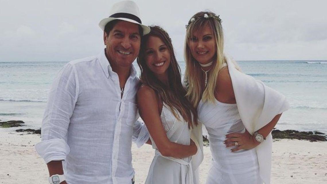 El exfutbolista Iván Zamorano y su esposa serían los padrinos de la boda de Pampita con García Moritán