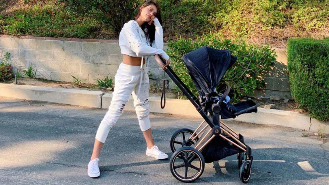 Eva de Dominici y su bebé
