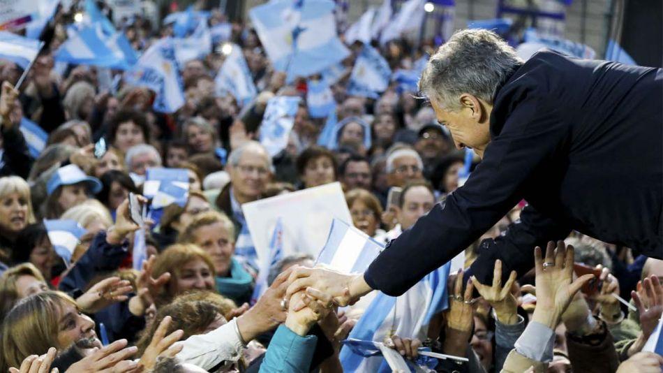Mauricio Macri de campaña en Pergamino