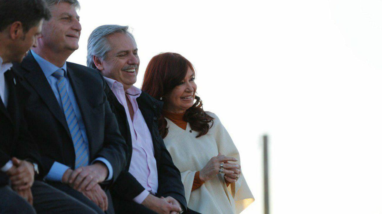 Alberto y Cristina, junto a Verna y Kicillof en La Pampa