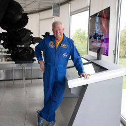 McBride bribdó una conferencia en el Planetario de la Ciudad de Buenos Aires, sitio donde se hizo esta fotografía.