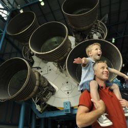 Cualquier oportunidad para estar cerca de cohetes como el Saturn V se convierte en una experiencia maravillosa.