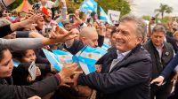 Mauricio Macri, en campaña.