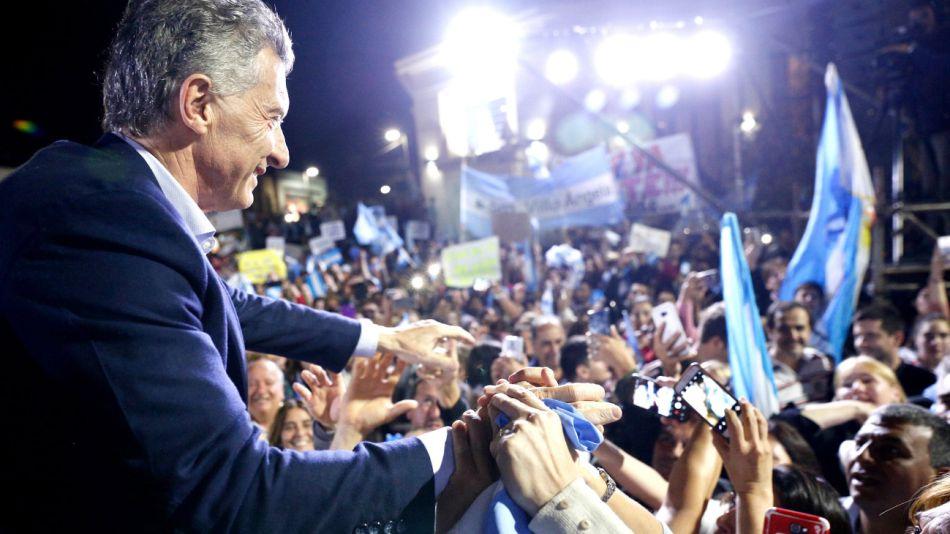 Mauricio Macri en la macha #SiSePuede en Reconquista