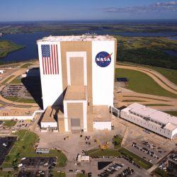 Vista aérea del Kennedy Visitor Center.