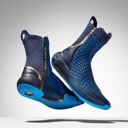 Under Armour revitalizó la bota espacial tradicional para crear algo que es altamente funcional, pero que también tiene el mismo estilo y elementos de diseño que el traje espacial.