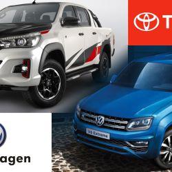 Toyota Hilux va por la Volkswagen Amarok