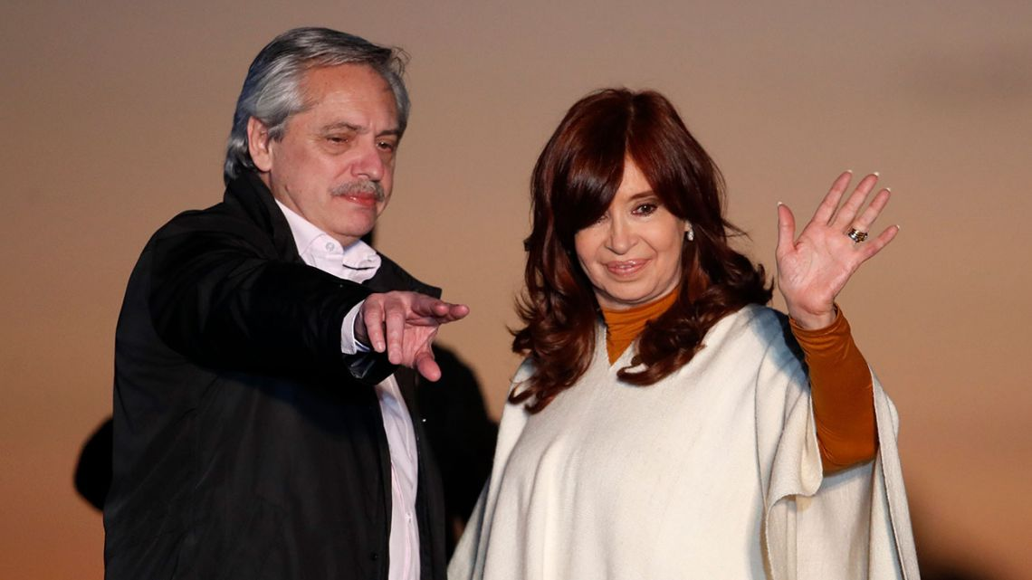 Presidential candidate Alberto Fernández and running-mate Cristina Fernández de Kirchner hold a campaign rally to mark Peronist Loyalty Day.