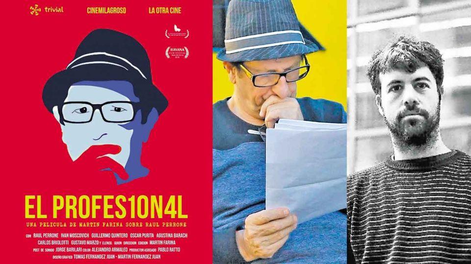 Momentos. Medio, un momento del film de Martín Farina. Derecha, el realizador.