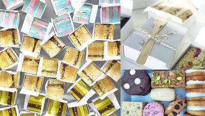 Coloridas. Las propuestas buscan combinar minipostres de sabores y texturas variadas.
