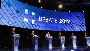 Los candidatos debaten en la segunta oportunidad de exponer sus ideas.