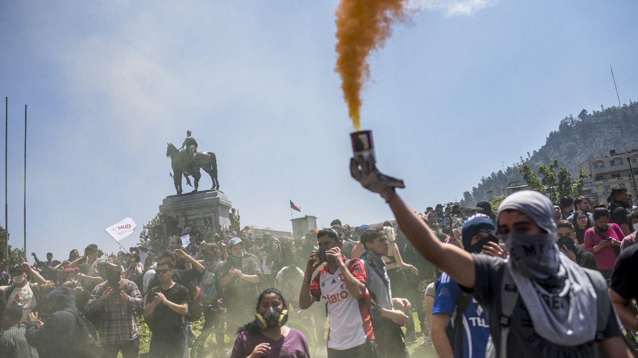 Santiago de Chile fue el epicentro de las protestas.